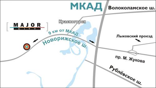 Схема проезда в Мэйджор Авто Сити